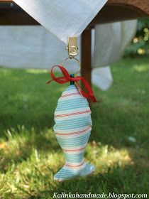 Crafty weights to keep your outdoor table cloth from blowing away!