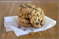 Heart-healthy chocolate cherry oatmeal cookies