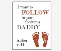 Personalized Father's Day gift footprint art by redmorningstudios, $19.99