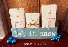 Making Snowmen Decor with 2x4 Scraps