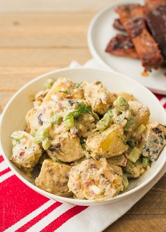 Buffalo Ranch Grilled Potato Salad.