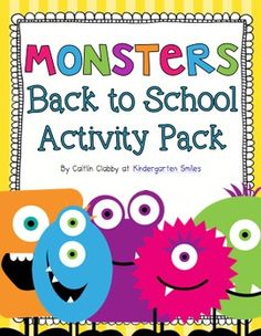 Monsters!  Back to School Activity Pack