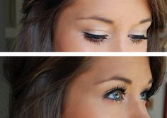 white eyeshadow, eye makeup, eye shadow, white shadow, bright eyes, beauti, eyeshadows, wedding makeup, hair