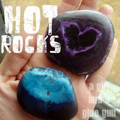 hot rocks. - A girl and a glue gun