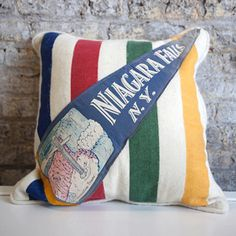 Niagara Falls. Wow! Vintage pennant AND a Hudson bay in one