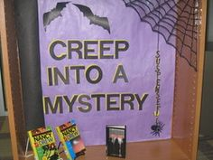 Creep into a mystery bulletin board display
