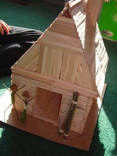 Popsicle Stick Doll House