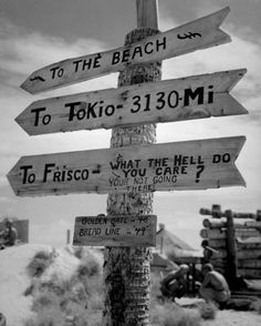 A sign in Tarawa erected by the Marines