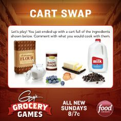 Here's another Grocery Games challenge you can play at home! What dish would you make with these items?
