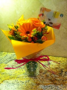DIY Great gift for a Starbucks lover! When you purchase a Starbucks gift card just ask for a plastic cup as well.