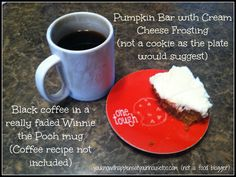 Pumpkin Bars with Cream Cheese Frosting Deliciousness in a pan. Printable recipe included!