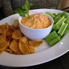 Buffalo Chicken Dip - Allrecipes.com Made this several times & always a hit!!