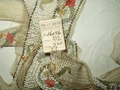 The Gatherings Antique Vintage - Antique Vintage 1920's Flapper Beadwork Beading Embroidery On Tulle Trim Yardage, $75.00 (http://store.the-gatherings-antique-vintage.net/antique-vintage-1920s-flapper-beadwork-beading-embroidery-on-tulle-trim-yardage/)