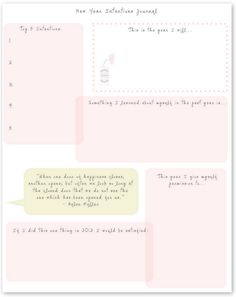 New Year Intentions Journal: Free Printable!