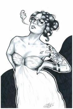Adam Isaac Jackson #illustrazione #rocker #girls