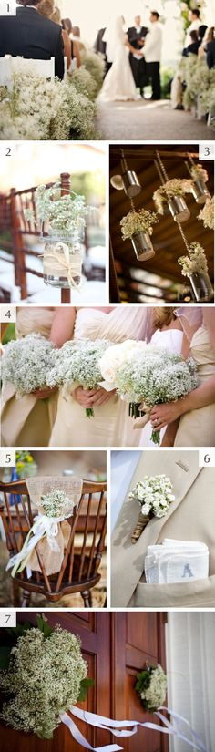 Baby's breath wedding inspiration