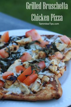 Grilled Bruschetta Chicken Pizza