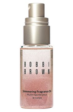 Bobbi Brown 'Miami Beach' Shimmering Fragrance Oil Shimmering Fragrance Oil combines pretty shimmer and the scent of her Beach Fragrance into lightweight oil, for an allover body experience. Beach is designed with notes of sand, jasmine, sea spray and Mandarin.