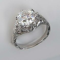 Loving this Vintage engagement ring. The stone is a bit too big for my taste but the band is beautiful!