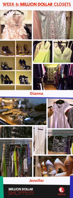 Final closets from #MillionDollarShoppers first season. Thanks for a glam season everyone!