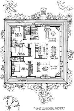 Architecten tekeningen en modellen on pinterest rem for Queenslander floor plans