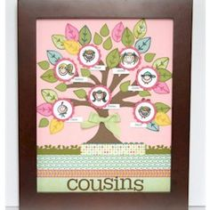 Make a Family Tree as wall art and have a beautiful reminder of your family connections. This is a good project to do with Moms. More crafts at www.freekidscrafts.com wall art, craft, family trees, famili tree, family tree wall, cousin famili, families, art tutorials, kid