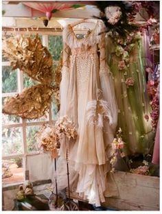 Beautiful dress with wings.