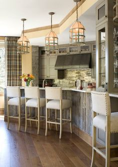 Interior design by: Bardes Interiors PALECEK's Portland Barstool Select