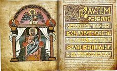 "The evangelist portrait and Incipit to Matthew from the Stockholm Codex Aureus, one of the ""Tiberius group"", show the Northumbrian Insular and classicising continental styles that combined and competed in early Anglo-Saxon manuscripts."