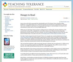 """""""Hungry to Read"""" from Teaching Tolerance http://www.tolerance.org/blog/hungry-read school teach, teachabl moment, teach toler, teach idea"""