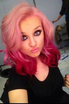 pink and red hair?