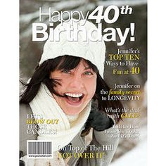 40th Birthday Personalized Magazine Cover $12.95
