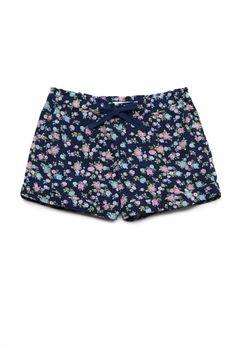 Floral Print Shorts--