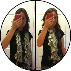 DIY ruffled t-shirt scarf tutorial - NO SEWING REQUIRED!!