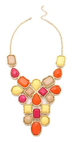 Multi Stone Bib Necklace - Luv these colors!