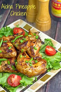 Aloha Pineapple Chicken | bakeatmidnite.com | #chicken #bbq #pineapplechicken