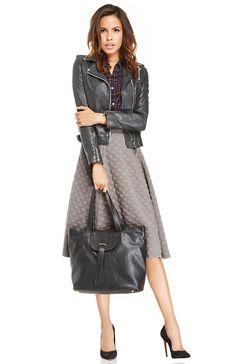 leather, plaid + polka dots | lookbook