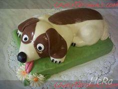 cake tutorial, dog cakes, sculpt cake, cake decor, sweet dog, carv dog, cake techniqu, cake carv, 3d cake