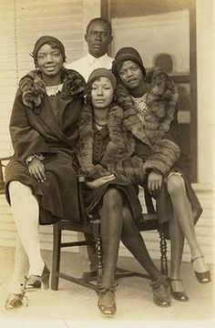 African-American flappers in fur and silk stockings. @designerwallace