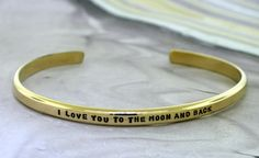 I Love You To The Moon And Back  gold filled by KathrynRiechert, $70.00
