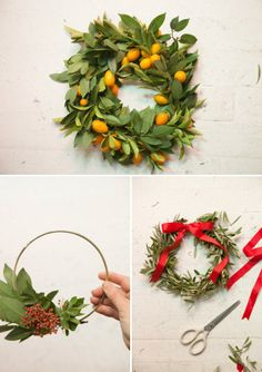 Last Minute Inspiration: Three Wreaths to Make for the Holidays. (@Jordan Ferney   Oh Happy Day!)