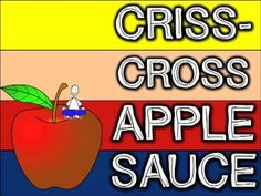 Criss-Cross Apple Sauce (song for sitting on the carpet w/ kids)