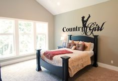 Country Girl Wall Graphic Wall Tattoo Wall Decal