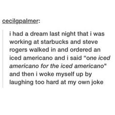 """One iced americano for """"Capsicle"""""""