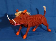Oaxaca Warthog Mexico - wood carving