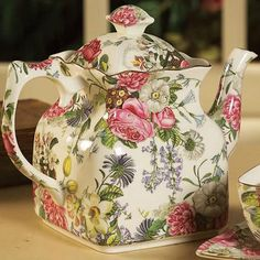 English Roses  Wildflowers tea pot