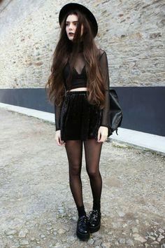 Grunge fashion,velvet.