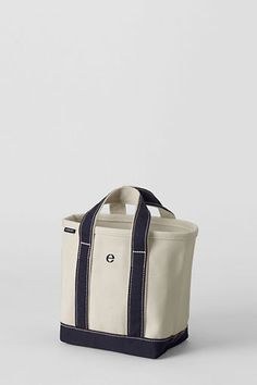 Small or Medium Natural Open Top Canvas Tote Bag from Lands' End - cute for the brides maids