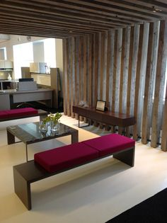 Nucraft showroom in Chicago showing Emme Collection