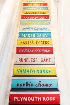 The stairs at Wishbone.